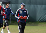 16 November 2007: Michael Parkhurst. The New England Revolution practiced at the RFK Stadium Auxiliary Field in Washington, DC two days before playing in MLS Cup 2007, Major League Soccer's championship game.