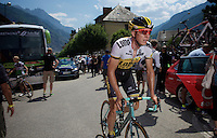 Sep Vanmarcke (BEL/LottoNL-Jumbo) towards the start<br /> <br /> stage 19: St-Jean-de-Maurienne - La Toussuire / Les Sybelles   (138km)<br /> Tour de France 2015