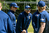Issued by Cricket Scotland - Scotland National Head Coach Shane Burger with his squad ahead of tomorrow's (sat) Scotland V Sri Lanka 1st One Day International at Grange CC, Edinburgh - picture by Donald MacLeod - 17.05.19 - 07702 319 738 - clanmacleod@btinternet.com - www.donald-macleod.com
