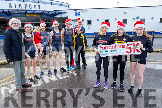 Members of the Farranfore Maine Valley Running club launching their St Stephen's Day 5k run at Kerry Airport on Friday.<br /> Front l to r: Maria, Eabha and Shauna McCarthy.<br /> Back l to r: Ger Crowley, Mary Daly, Brendan and Anna Lynch, George McCarthy, Dermot Dineen, Mags Moriarty and Arthur Fitzgerald.