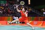 Akane Yamaguchi (JPN), AUGUST 15, 2016 - Badminton : Women's Singles Quarter finals at Riocentro - Pavilion 4 during the Rio 2016 Olympic Games in Rio de Janeiro, Brazil. <br /> (Photo by Sho Tamura/AFLO SPORT)