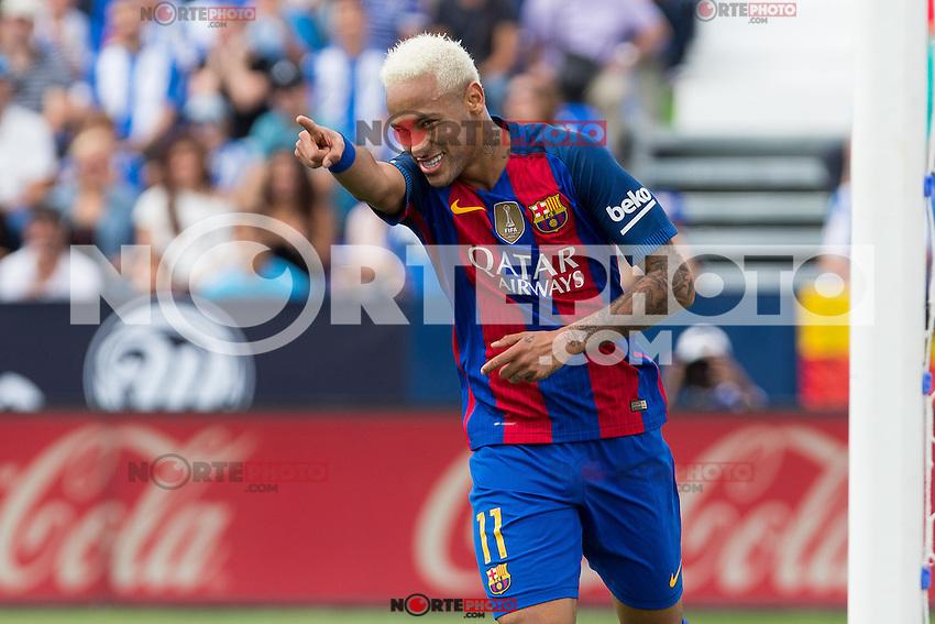 FC Barcelona's Neymar Santos Jr during the match of La Liga between Club Deportivo Leganes and Futbol Club Barcelona at Butarque Estadium in Leganes. September 17, 2016. (ALTERPHOTOS/Rodrigo Jimenez) /NORTEPHOTO