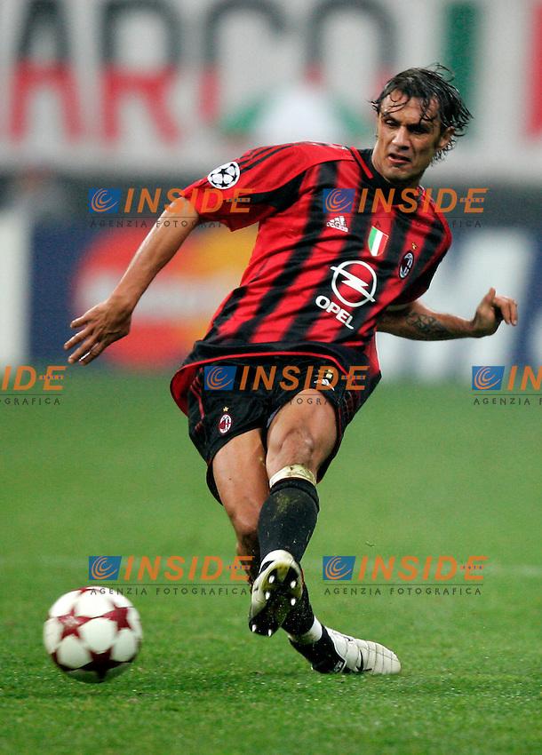 Milano 20/10/2004 Champions League Matchday 3<br /> Milan Barcellona 1-0<br /> Paolo Maldini Milan<br /> Photo Insidefoto