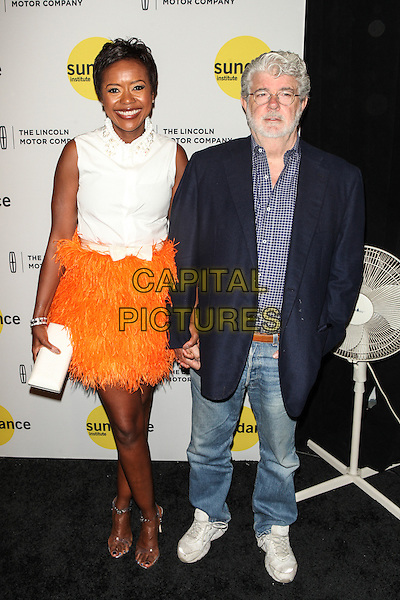 NEW YORK, NY -  JUNE 4: Mellody Hobson and George Lucas attend the Sundance Institute Vanguard Leadership Award honoring Glenn Close at Stage 37 on June 4, 2014 in New York City.<br />  <br /> CAP/MPI/DIE<br /> &copy;Diego Corredor/ MediaPunch/Capital Pictures