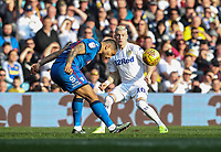 Bolton Wanderers' Josh Magennis competing with Leeds United's EzgjanAlioski <br /> <br /> Photographer Andrew Kearns/CameraSport<br /> <br /> The EFL Sky Bet Championship - Leeds United v Bolton Wanderers - Saturday 23rd February 2019 - Elland Road - Leeds<br /> <br /> World Copyright © 2019 CameraSport. All rights reserved. 43 Linden Ave. Countesthorpe. Leicester. England. LE8 5PG - Tel: +44 (0) 116 277 4147 - admin@camerasport.com - www.camerasport.com