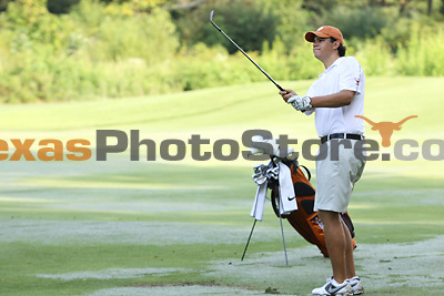 University of Texas freshman Beau Hossler hits from the fairway during the Carpet Capital Collegiate at The Farm Golf Club in Rocky Face, Ga., on Saturday, Sept. 7. The Longhorns return to The Farm as defending champions after shooting a 13-under 851 in 2012.<br /> <br /> Photo by Patrick Smith