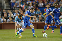 Juan Mata (10) Chelsea goes past Xavi Garcia Manchester City..Manchester City defeated Chelsea 4-3 in an international friendly at Busch Stadium, St Louis, Missouri.