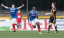 Cowdenbeath's Kudus Oyenuga (19) celebrates after he scores their second goal.