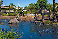 The La Brea Tar Pits and Hancock Park, Elephants stuck in Tar Display