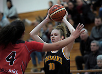 Taranaki's Eva Langdon in action during the 2018 Women's Basketball League match between Canterbury Wildcats and Taranaki Thunder at Cowles Stadium in Christchurch, New Zealand on Sunday, 24 June 2018. Photo: Dave Lintott / lintottphoto.co.nz