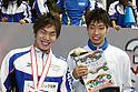 (L to R) .Yuya Horihata (JPN), .Kosuke Hagino (JPN), .APRIL 2, 2012 - Swimming : .JAPAN SWIM 2012 .Men's 400m Individual Medley Victory Ceremony .at Tatsumi International Swimming Pool, Tokyo, Japan. .(Photo by YUTAKA/AFLO SPORT) [1040]