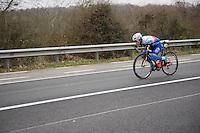 Daniel Hoelgaard (NOR/FDJ) low&fast<br /> <br /> 69th Kuurne-Brussel-Kuurne 2017 (1.HC)