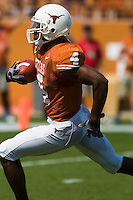 02 September 2006: University of Texas wide receiver Limas Sweed sprints down field for a touchdown during the first half of the Longhorns game against the University of North Texas at Darrell K Royal Memorial Stadium in Austin, TX.