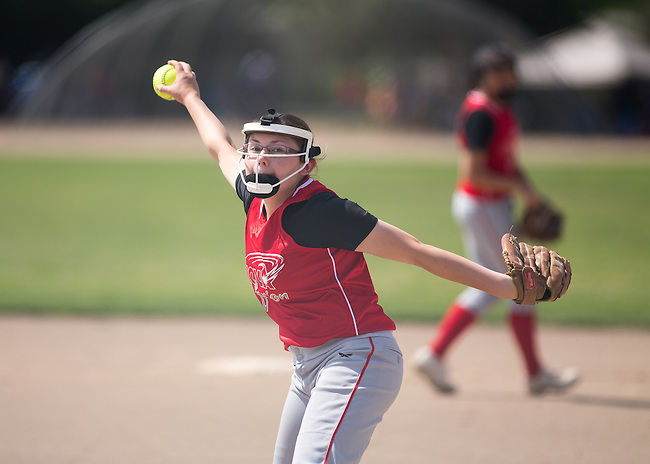 MVLAGS Nova Fusion Morton vs East Bay Fastpitch at Fast-Pitch Girls 14 and Under Open Memorial Day Classic at Cubberly Fields.  May 28, 2016