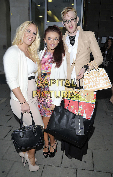 LONDON, ENGLAND - OCTOBER 01: DJ Sarah Giggle, Lydia Lucy &amp; Lewis-Duncan Weedon attend the Cherry Edit new fashion website launch party, Cafe KaiZen, Hanover Square, on Wednesday October 01, 2014 in London, England, UK. <br /> CAP/CAN<br /> &copy;Can Nguyen/Capital Pictures