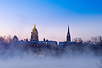 MC 1.6.17 Morning Lake Mist.JPG by Matt Cashore/University of Notre Dame