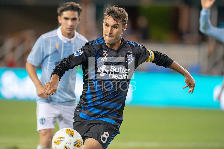 San Jose, CA - Thursday December 31, 2015: Chris Wondolowski during a Major League Soccer (MLS) match between the San Jose Earthquakes and Sporting Kansas City at Avaya Stadium.