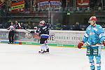 Schwenningens MirkoHoefflin (Nr.61, rechts) und Schwenningens RihardsBukarts (Nr.8)  bejubeln das Tor zum 3:4 in Overtime beim Spiel in der DEL, Duesseldorfer EG (hell) - Schwenninger Wild Wings (dunkel).<br /> <br /> Foto © PIX-Sportfotos *** Foto ist honorarpflichtig! *** Auf Anfrage in hoeherer Qualitaet/Aufloesung. Belegexemplar erbeten. Veroeffentlichung ausschliesslich fuer journalistisch-publizistische Zwecke. For editorial use only.