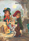 Alfredo, CHILDREN, paintings, BRTOVE0012,#K# Kinder, niños, nostalgisch, nostálgico, illustrations, pinturas