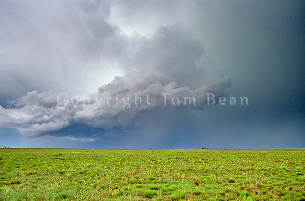 Severe storm over Great Plains of  the Llano Estacado, Staked Plains, near Portales, New Mexico, AGPix_0266.