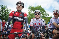 Philippe Gilbert (BEL/BMC) &amp; Gianni Meersman (BEL/OPQS) at the start<br /> <br /> Ster ZLM Tour<br /> stage 3: Buchten-Buchten (190km)
