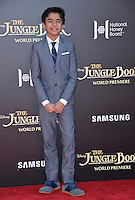 LOS ANGELES, CA. April 4, 2016. Actor Neel Sethi at the world premiere of &quot;The Jungle Book&quot; at the El Capitan Theatre, Hollywood.<br /> Picture: Paul Smith / Featureflash