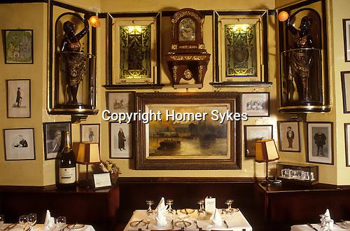 Rules Restaurant Covent Garden London UK interior Covent Garden London UK interior
