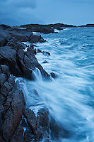 Stormy sea against coast, Stamsund, Vestvagoy, Lofoten islands, Norway