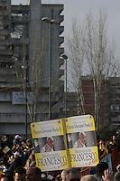 Le Vele di Scampia . Popular neighborood of Scampia<br /> Napoli 21-03-2015 <br /> Visita Pastorale di Sua Santita' Papa Francesco all'Arcidiocesi di Napoli.<br /> Pastoral visit of his Holiness Pope Francis to the Archdiocese of Naples.<br /> Foto Cesare Purini / Insidefoto