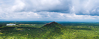 Panoramic photo of Pidurangala Rock, seen from the top of Sigiriya Rock, Sri Lanka. This is a panoramic photo of Pidurangala Rock, seen from the top of Sigiriya Rock, Sri Lanka. Sigiriya Rock offers stunning panoramic views over the surrounding Sri Lankan jungle landscape, including bizarre Pidurangala Rock that towers over the plains.