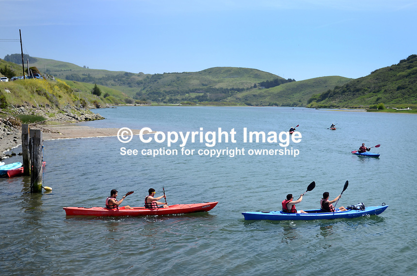 Canoeists, Russian River, Jenner, Sonoma County, California, USA. 201304292048<br /> <br /> Copyright Image from Victor Patterson, 54 Dorchester Park, Belfast, UK, BT9 6RJ<br /> <br /> Tel: +44 28 9066 1296<br /> Mob: +44 7802 353836<br /> Voicemail +44 20 8816 7153<br /> Skype: victorpattersonbelfast<br /> Email: victorpatterson@me.com<br /> Email: victorpatterson@ireland.com (back-up)<br /> <br /> IMPORTANT: If you wish to use this image or any other of my images please go to www.victorpatterson.com and click on the Terms &amp; Conditions. Then contact me by email or phone with the reference number(s) of the image(s) concerned.