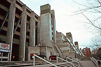 London:  Brunswick Centre--7 story megastructure.  Sir Leslie Martin & Patrick hodgkinson, 1962.  Photo '90.