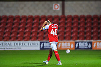 Fleetwood Town's forward Dan Mooney (40) misses fourth penalty during the The Leasing.com Trophy match between Fleetwood Town and Liverpool U21 at Highbury Stadium, Fleetwood, England on 25 September 2019. Photo by Stephen Buckley / PRiME Media Images.
