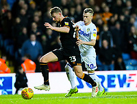 Leeds United's Ezgjan Alioski battles with Hull City's Stephen Kingsley<br /> <br /> Photographer Alex Dodd/CameraSport<br /> <br /> The EFL Sky Bet Championship - Leeds United v Hull City - Saturday 29th December 2018 - Elland Road - Leeds<br /> <br /> World Copyright © 2018 CameraSport. All rights reserved. 43 Linden Ave. Countesthorpe. Leicester. England. LE8 5PG - Tel: +44 (0) 116 277 4147 - admin@camerasport.com - www.camerasport.com