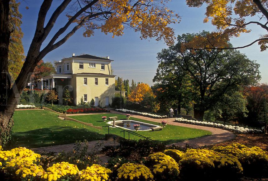 AJ3115, Wheeling, West Virginia, Mansion Museum and floral garden at Oglebay Park in Wheeling in the state of West Virginia.