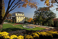 AJ3115, Wheeling, West Virginia, Mansion Museum and floral garden at Oglebay Park in Wheeling in the state of West Virginia.