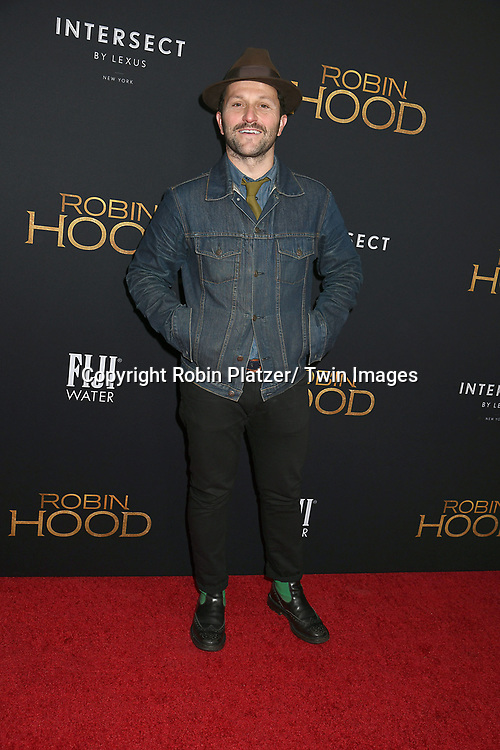 "actor Daniel Sauli attends the New York Special Screening of ""Robin Hood"" on November 11, 2018 at AMC Lincoln Square in New York, New York, USA.<br /> <br /> photo by Robin Platzer/Twin Images<br />  <br /> phone number 212-935-0770"