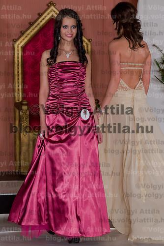 Lilla Szandra Gajdacs participates the Miss Hungary beauty contest held in Budapest, Hungary on December 29, 2011. ATTILA VOLGYI