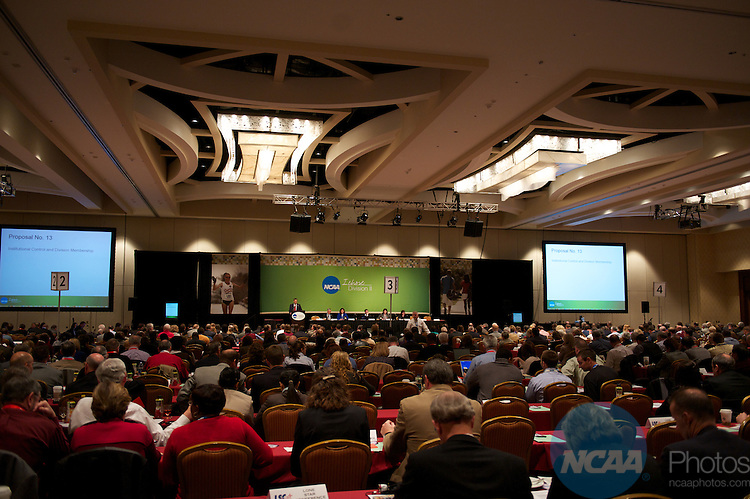 14 JAN 2011: The Division II business session at the annual NCAA Convention held in San Antonio,TX. .(Joshua Duplechian/NCAA Photos)