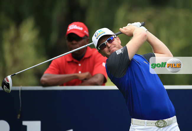 Matt Ford (ENG) plays down the 15th on the West Course during Round 2 of the 2016 Joburg Open Celebrating 10 years, played at the Royal Johannesburg and Kensington Golf Club, Gauteng, Johannesburg, South Africa.  15/01/2016. Picture: Golffile | David Lloyd<br /> <br /> All photos usage must carry mandatory copyright credit (&copy; Golffile | David Lloyd)