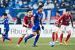 Suwon Forward Johnathan Da Silva Vilela (C) in action during the AFC Champions League 2017 Group G match Between Suwon Samsung Bluewings (KOR) vs Guangzhou Evergrande FC (CHN) at the Suwon World Cup Stadium on 01 March 2017 in Suwon, South Korea. Photo by Victor Fraile / Power Sport Images