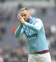 West Ham United's Marko Arnautovic at the end of the game<br /> <br /> Photographer Rob Newell/CameraSport<br /> <br /> The Premier League - Tottenham Hotspur v West Ham United - Saturday 27th April 2019 - White Hart Lane - London<br /> <br /> World Copyright © 2019 CameraSport. All rights reserved. 43 Linden Ave. Countesthorpe. Leicester. England. LE8 5PG - Tel: +44 (0) 116 277 4147 - admin@camerasport.com - www.camerasport.com