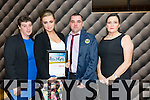 Rebecca Donovan from Shanakill Tralee  with her family after she was presented with the Lee Strand-Kerry Garda Youth Acheivement Merit Award on Friday night in Ballyroe Heights Hotel. Pictured Catherine Clifford, Rebecca Donovan , David Donovan, Geraldine Walsh