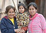 Modesta Roca, Alba Canabi, and Catarin Seron--three generations of Guarani indigenous women in the village of Mberirenda, Bolivia. Church World Service works with families in the village to strengthen the leadership of women and youth.