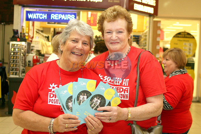 Gay Woods and Kitty Brady at the Launch of Positive Aging Week 2009 in the Town Centre...Photo NEWSFILE/Jenny Matthews.(Photo credit should read Jenny Matthews/NEWSFILE)....This Picture has been sent you under the condtions enclosed by:.Newsfile Ltd..The Studio,.Millmount Abbey,.Drogheda,.Co Meath..Ireland..Tel: +353(0)41-9871240.Fax: +353(0)41-9871260.GSM: +353(0)86-2500958.email: pictures@newsfile.ie.www.newsfile.ie.FTP: 193.120.102.198.