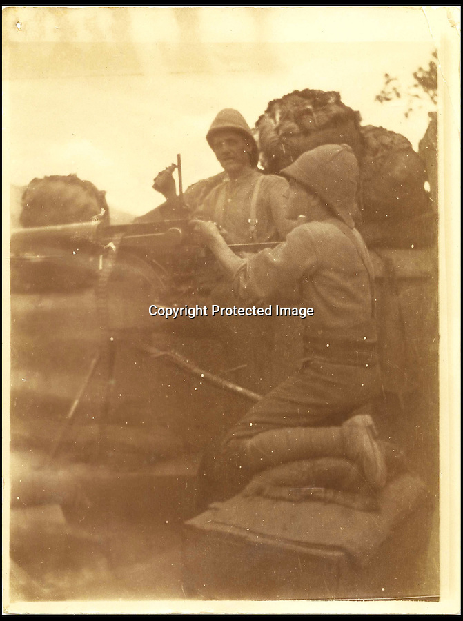 """BNPS.co.uk (01202 558833)<br /> Pic: HAldridge/BNPS<br /> <br /> ***Please Use Full Byline***<br /> <br /> Maxim gun crew.<br /> <br /> A collection of never-seen-before photographs taken during the controversial 1903 British Mission to Tibet has come to light.<br /> <br /> The rare snaps were taken by an officer during the campaign - the first time the British were given access to the country.<br /> <br /> They depict the haunting beauty of the secluded country and brought images of Tibeten landscapes including Mount Everest to the west for the first time.<br /> <br /> The set contains 140 sepia pictures of Tibetan buildings, people and soldiers, including a particularly poignant photograph of a British gunner manning a Maxim machine gun.<br /> <br /> Early in the campaign, troops gunned down 700 lightly armed Tibetan monks standing in their path in the infamous Massacre of Chumik Shenko.<br /> <br /> The slaughter was so brutal that Lieutenant Arthur Hadow, commander of the Maxim guns detachment, wrote afterwards: """"I got so sick of the slaughter that I ceased fire.<br /> <br /> """"I hope I shall never again have to shoot down men walking away.""""<br /> <br /> The expedition began in December 1903 when around 3,000 troops marched into the country from India led by Colonel Francis Younghusband.<br /> <br /> It was initiated by Lord George Curzon, the Viceroy of India, to prevent Russia gaining influence in Tibet.<br /> <br /> They reach the capital Lhasa in August 1904, when the government signed a treaty effectively turning the country into a British protectorate.<br /> <br /> The photo archive is being sold by desecendents of one of the officers on the trip from southern England after languishing in a drawer for years.<br /> <br /> The collection is tipped to fetch 1,200 pounds when it goes under the hammer."""
