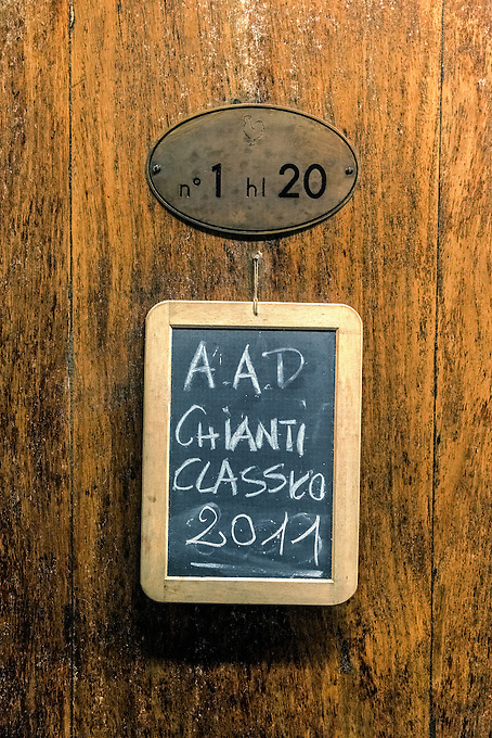Aging Chianti Classico at a small vineyard in Tuscany.