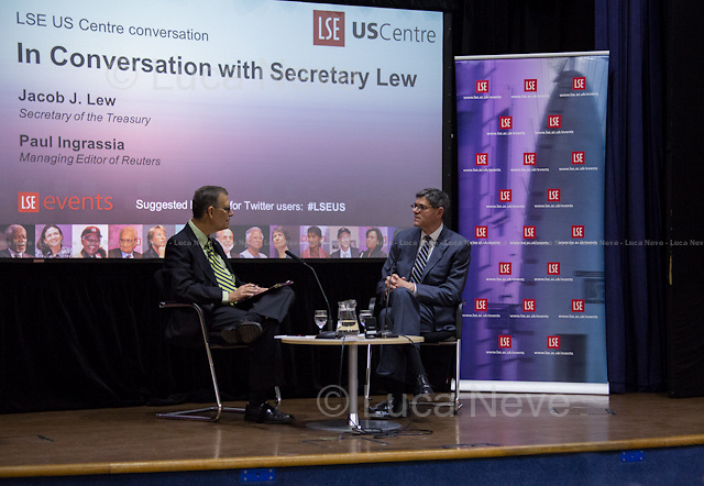 (From L to R) Paul Ingrassia &amp; Jacob &quot;Jack&quot; Lew.<br />