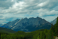 Beautiful Palisades mountain in Jasper National Park