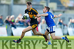 David Shaw Dr Crokes in action against Danny O'Sullivan Kerins O'Rahillys in the Kerry Senior Football County Championship Semi Final between Dr Crokes and Kerins O'Rahillys at Austin Stack Park on Sunday.